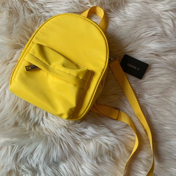 F21 Yellow Backpack-style Shoulder Bag